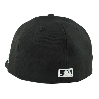 New Era Los Angeles Dodgers Script Logo Black/Black Fitted