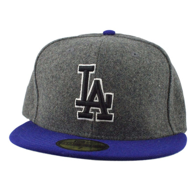 New Era Los Angeles Dodgers Shader Melt Wool Gray/Blue Fitted