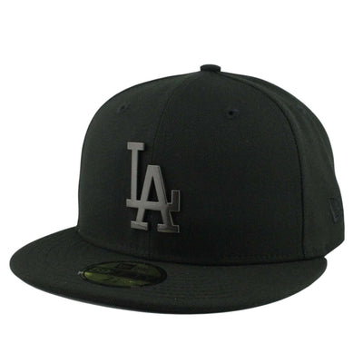 New Era Los Angeles Dodgers Sleeked Finish Black/Black Fitted