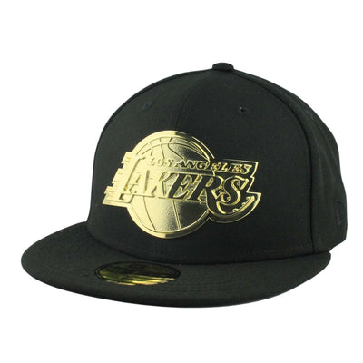 New Era Los Angeles Lakers Golden Finish Metal Black/Black Fitted