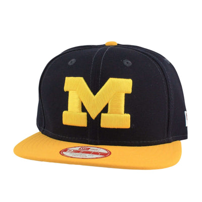 New Era Michigan Wolverines Shore Snapper Blue/Yellow Snapback