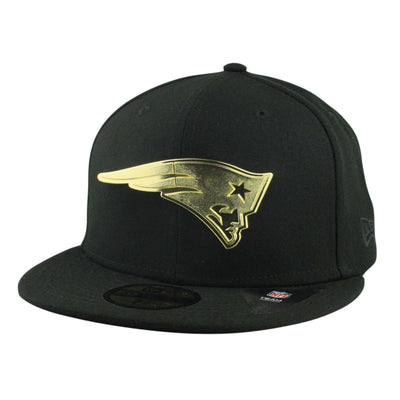 New Era New England Patriots Golden Finish Metal Black/Black Fitted