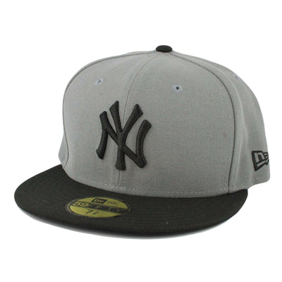 New Era New York Yankees Basic Gray/Black Fitted