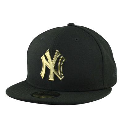 New Era New York Yankees Golden Finish Metal Black/Black Fitted