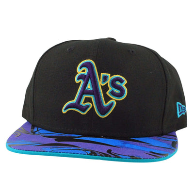 New Era Oakland A's Aqua Hook Vize Black/Assorted Snapback
