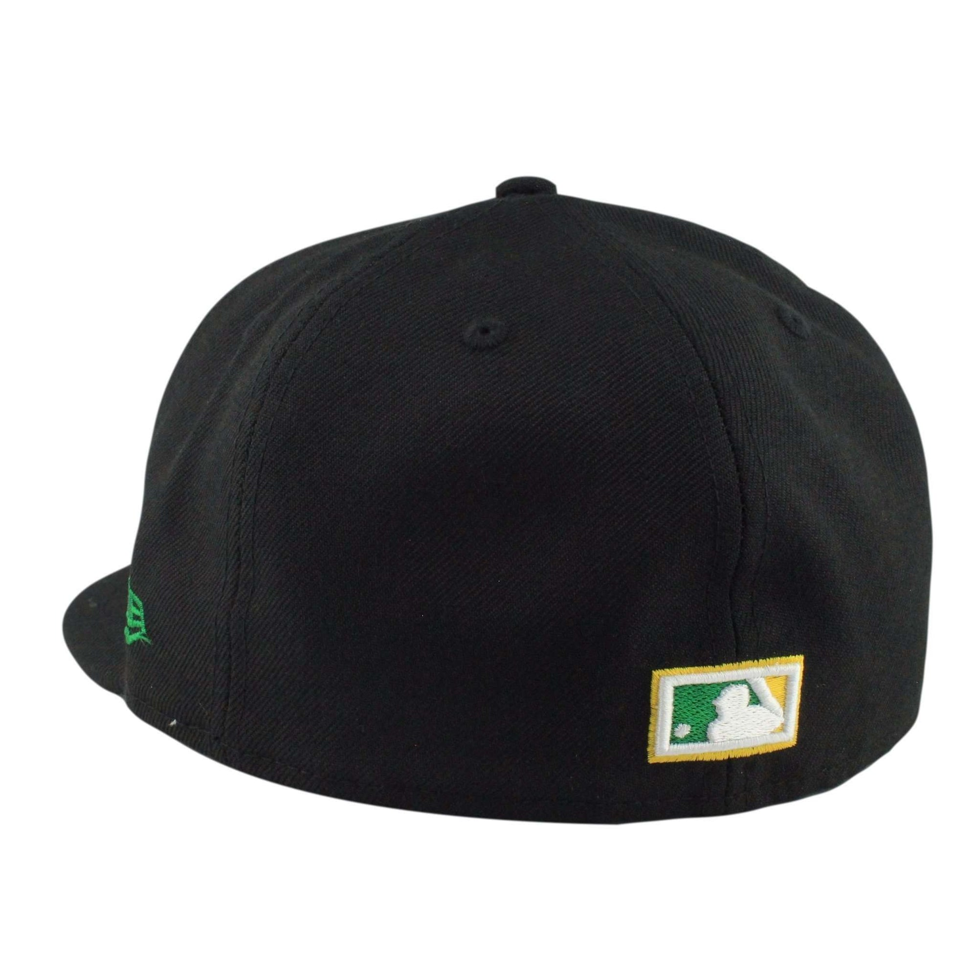 593d9a7b Oakland A's Elephant Cooperstown Black/Black Fitted | New Era ...