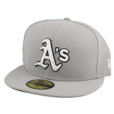 New Era Oakland A's White Logo Gray/Gray Fitted