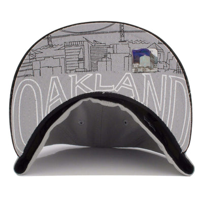 New Era Oakland Raider Draft Day Gray/Black Fitted