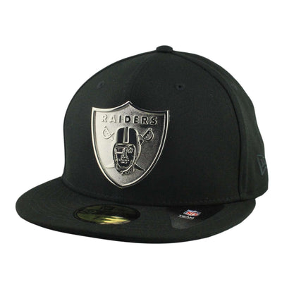 New Era Oakland Raiders Golden Finish Silver Metal Black/Black Fitted