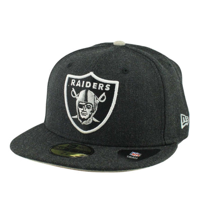 New Era Oakland Raiders Heather Hype Fit Black/Black Fitted