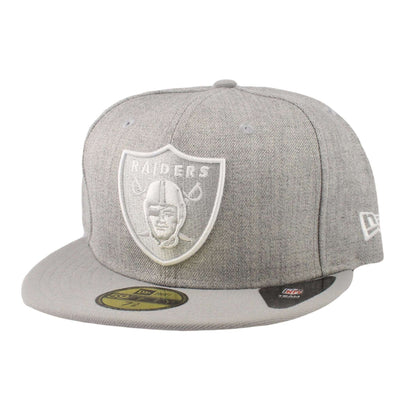 New Era Oakland Raiders Heather League Heather Gray/Gray Fitted
