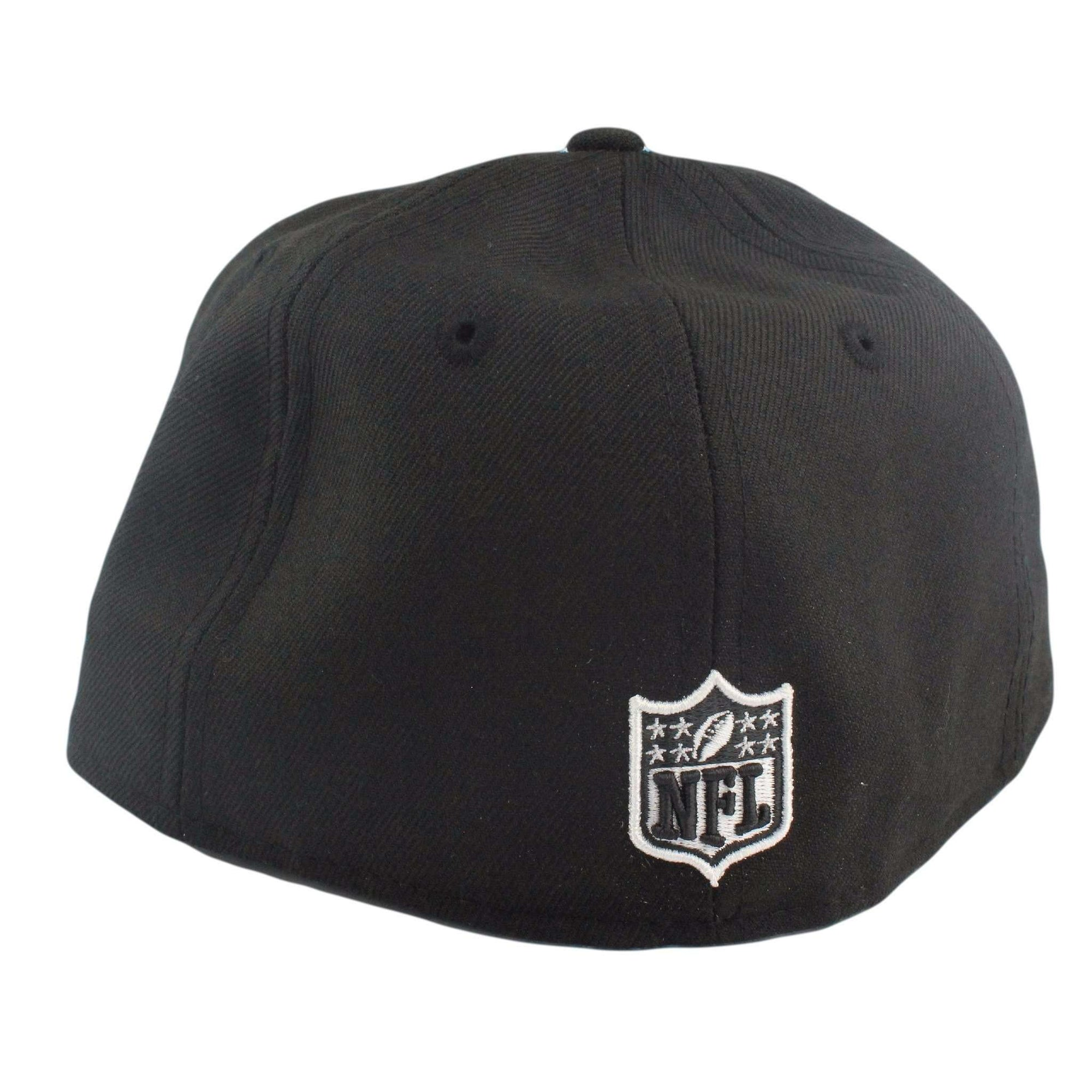 huge selection of 64f96 83a0d New Era Oakland Raiders White Logo Black Black Fitted