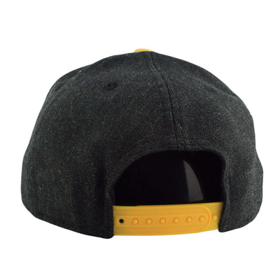 New Era Pittsburgh Pirates Heather Action Black/Yellow Snapback