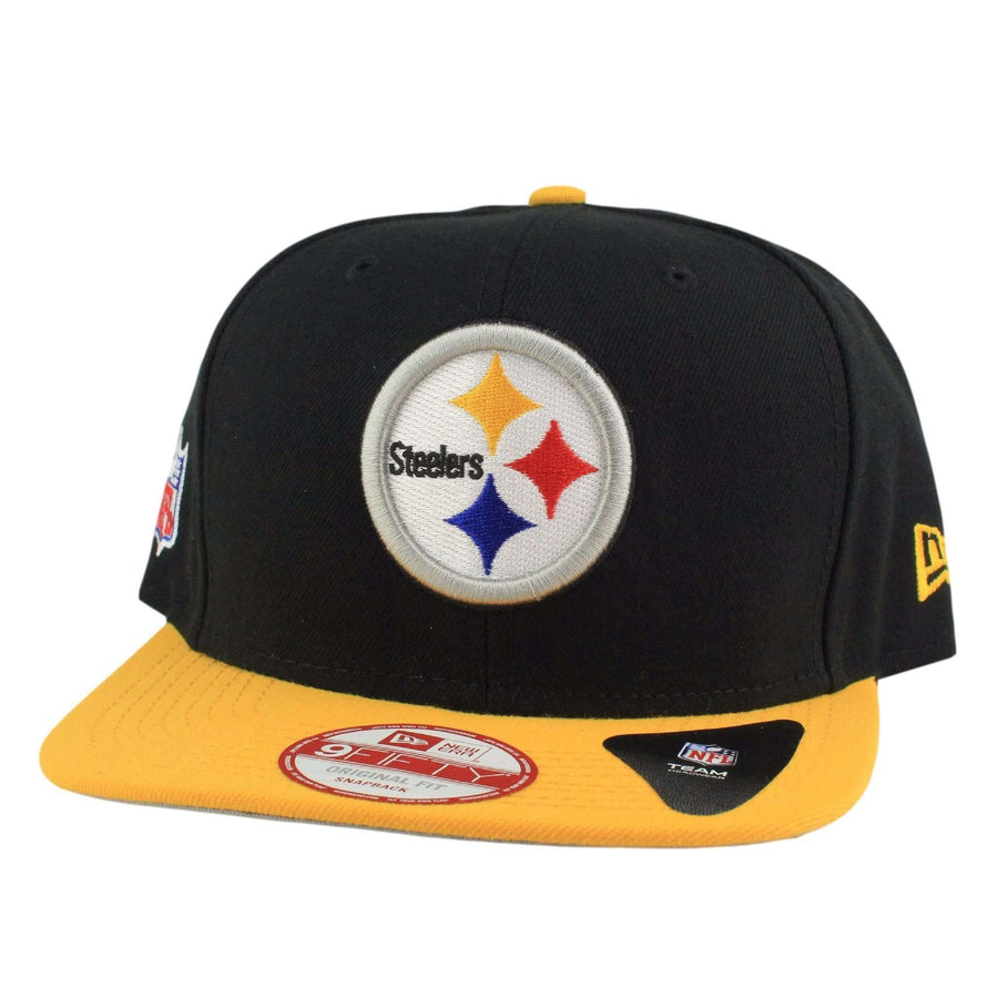 9c7c6542952 New Era Pittsburgh Steelers Baycik Shield Black Yellow Snapback