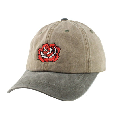 No Boyz Allowed No Boyz Allowed Rose Distressed Brown/Gray Slouch Strapback