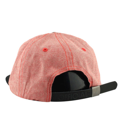 Official Official Dolo Cham Red/Black Unstructured Strapback
