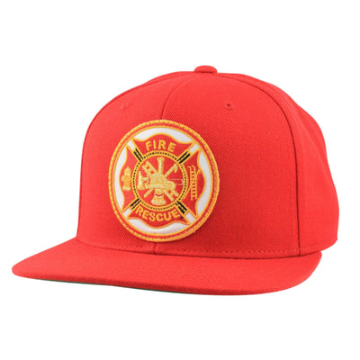 Oscar Mike Oscar Mike Fire Rescue Patch Red/Red Snapback