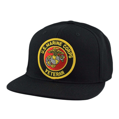 Oscar Mike Oscar Mike Marines Veteran Patch Black/Black Snapback