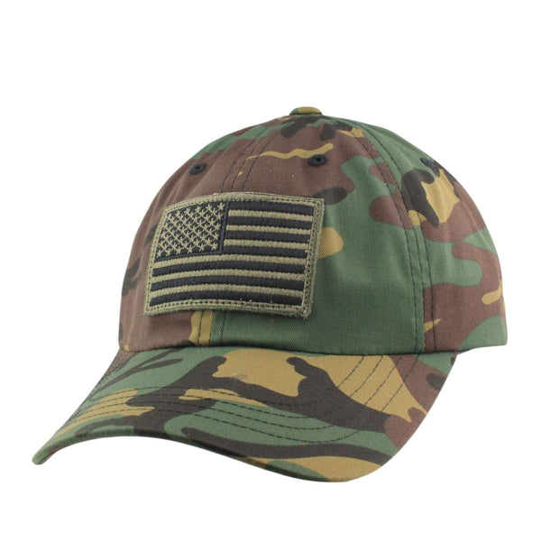 Oscar Mike Olive American Flag Patch Camo Camo Slouch Strapback ... d24eed011b1