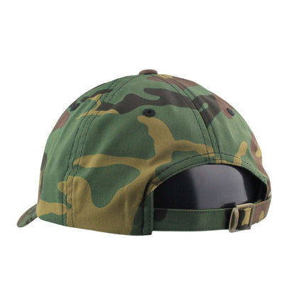 Oscar Mike Oscar Mike Olive American Flag Patch Camo/Camo Slouch Strapback