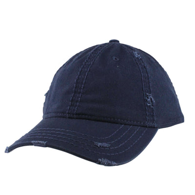 Otto Blank 6-Panel Distressed Navy/Navy Slouch Velcroback