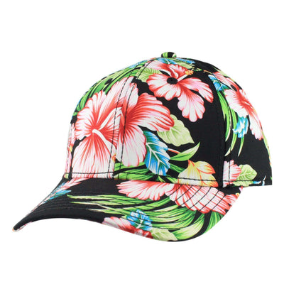 Otto Blank 6-Panel Hawaiian Pattern Assorted/Assorted Snapback