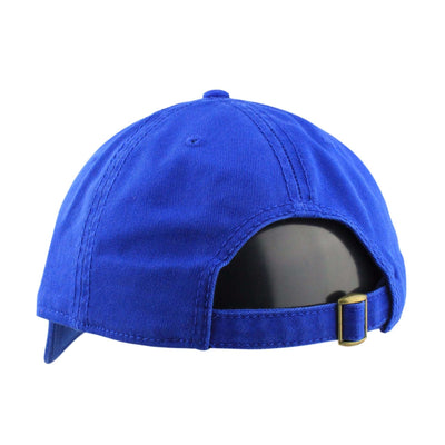 Otto Blank 6 Panel Royal Blue/Royal Blue Slouch Strapback