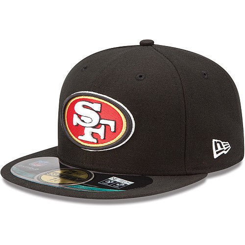 New Era NFL Fitteds, San Francisco 49ers On Field Black/Black Fitted - Bespoke Cut and Sew
