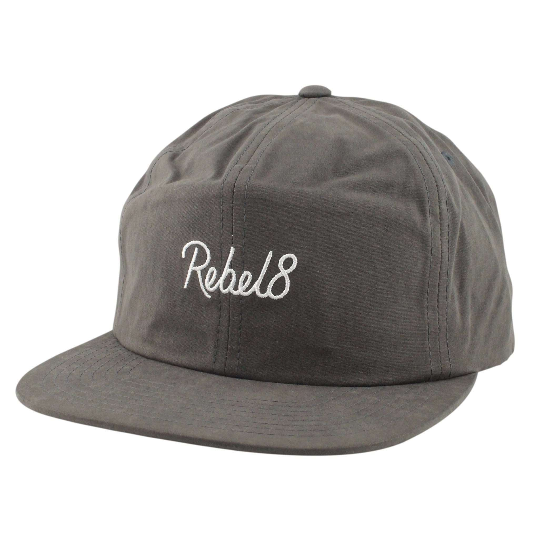 9f73babc083a9 Rebel 8 Lakeview Charcoal Charcoal Unstructured Snapback