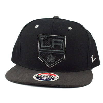 Zephyr Los Angeles Kings Blackout Black/Gray Snapback