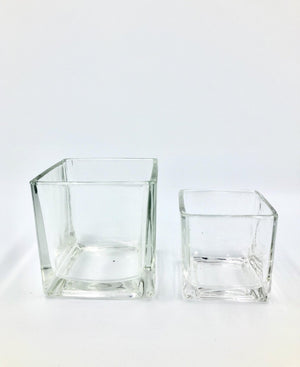 NEW STOCK Square Glass Pot (For S and M Pafcal) - Midorie Singapore