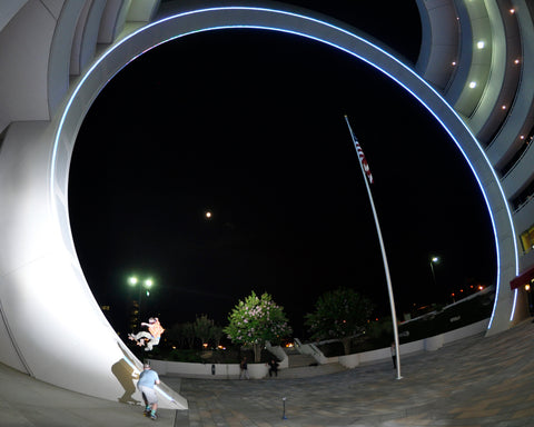 Rob Fall Skateboarder night shot