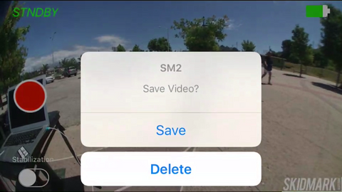 save and delete feature for video recording sm2 app