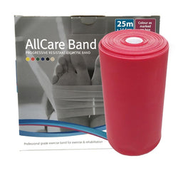 Allcare Resistance Band 25m Red - Medium Resistance