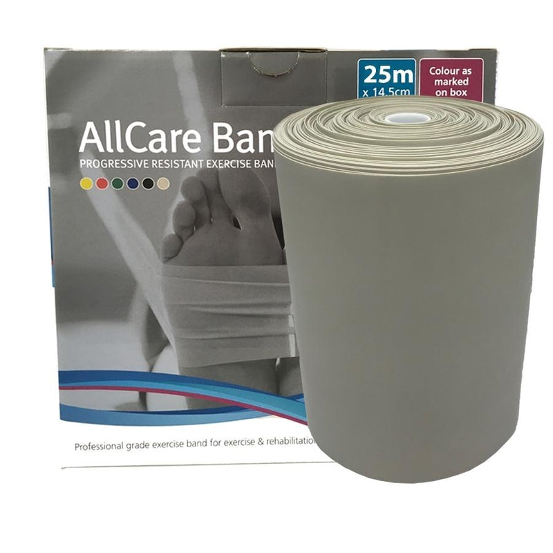 Allcare Resistance Band 25m Silver - XXX-Firm Resistance