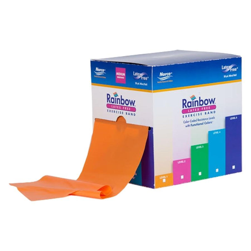 NorthCoast Rainbow Latex-Free Resistance/ Exercise Band