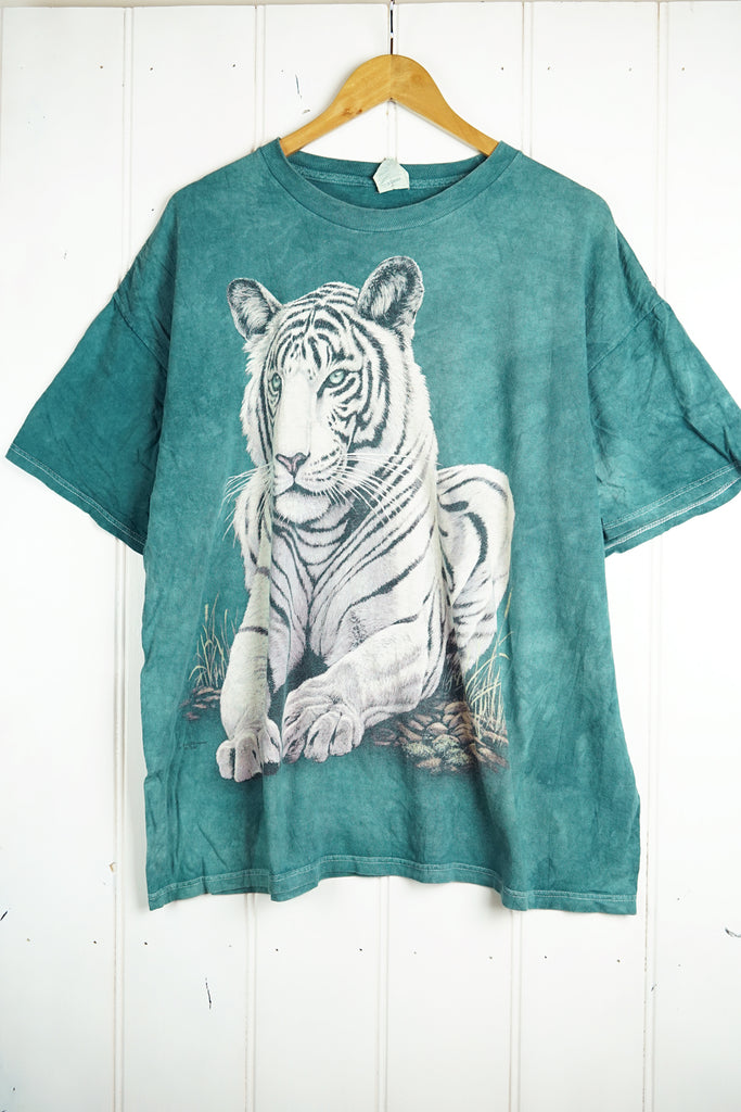 Preloved Animals - 2009 Tiger Blue Tee - 2XLarge