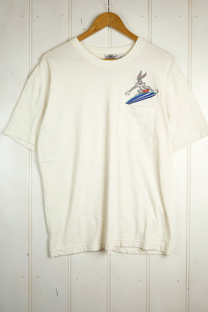 Vintage Cartoon - Bugs White Tee - Medium