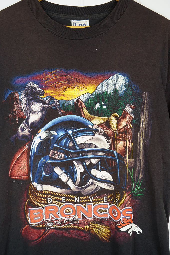 Vintage Sports - Broncos Black Tee - Medium