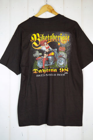 Vintage Bike - 98 Biketoberfest Black Tee - Large