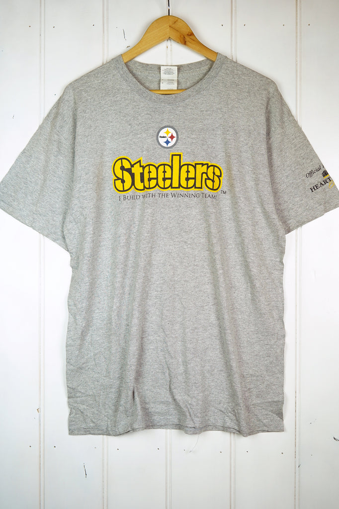 Preloved Sports - Build Steelers Grey Tee - Large