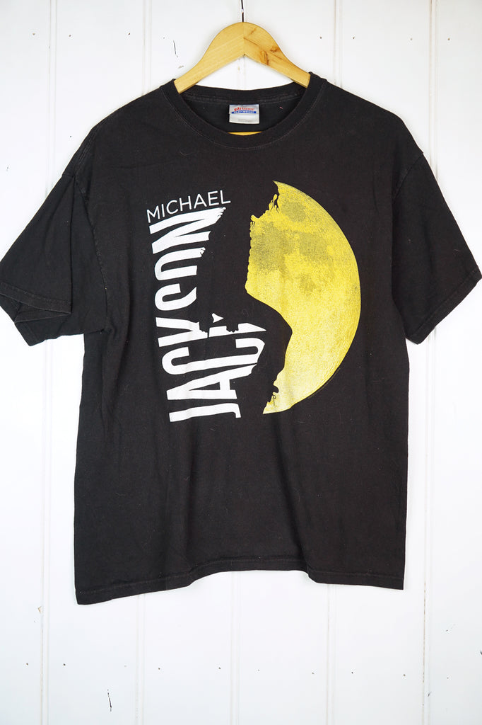 Vintage Music - Michael Jackson Black Tee - Large