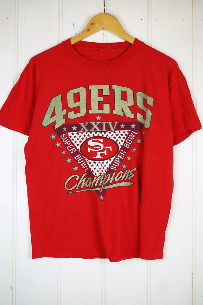 Vintage Sports - 49ers Red Tee - Large