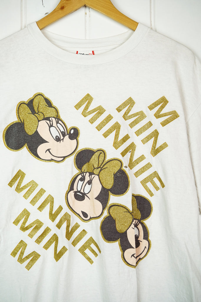 Vintage Cartoon -  Minnie Glitter Tee - XLarge