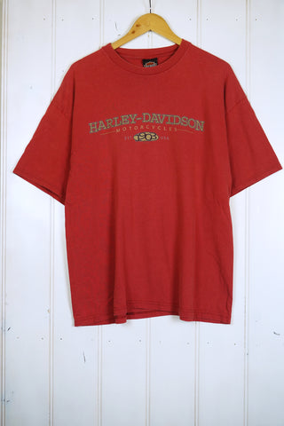 Vintage Harley - Mills Faded Red Tee - XLarge