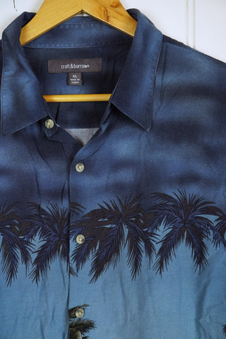 Vintage Hawaiian Shirt - Croft & Barrow  Shirt - XLarge