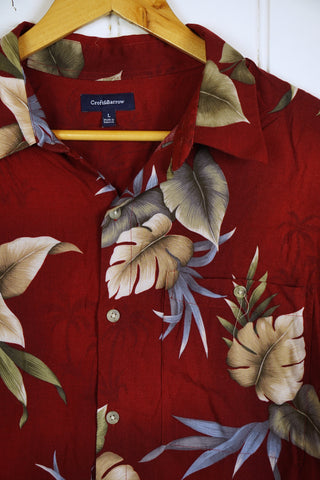 Vintage Hawaiian Shirt - Palm Shirt - Large