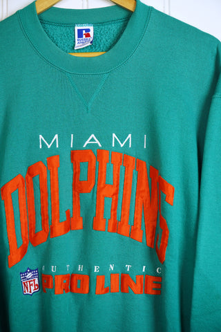 Vintage Sports - Russell Miami Dolphins Sweatshirt - XLarge