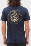 Anchors Tee - Navy