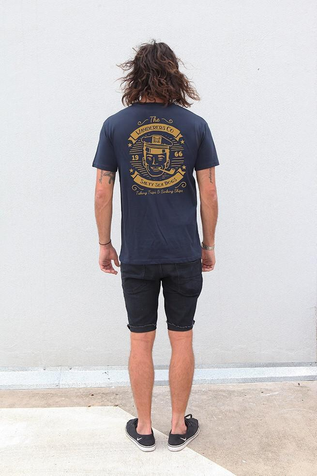 Salty Sea Dogs Tee - Navy
